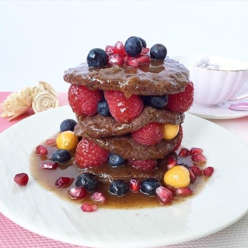 Choc Maca Pancakes