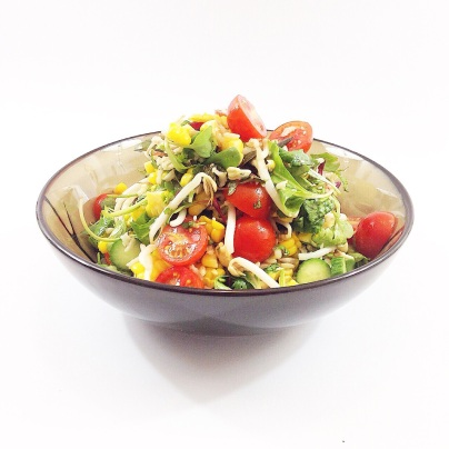 mung bean sprout & corn salad