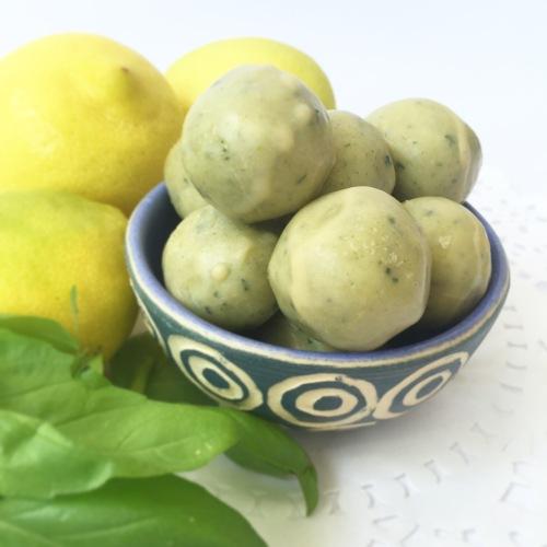 Lemon & Basil Truffles