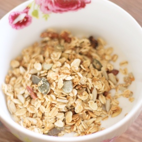 Coconut mousse granola