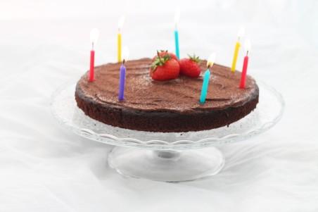 Chocolate Olive Oil Bday Cake 1