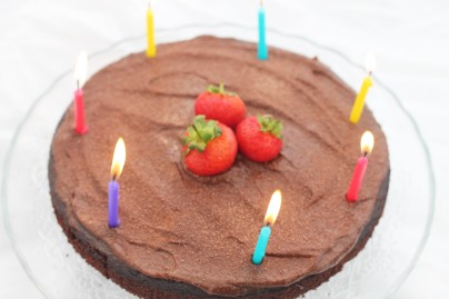 Chocolate Olive Oil Bday Cake 2
