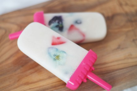 Vanilla Fruit Ice Lollies