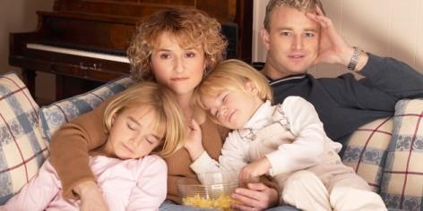 Family cuddling